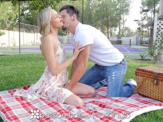 PASSION-HD Picnic rendezvous turns into pulverize with towheaded Emma Hix porn video