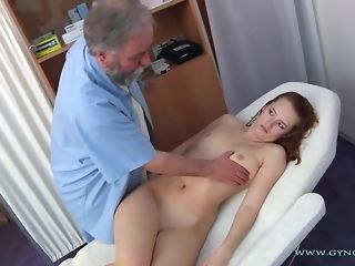 Long-legged Ginger Czech nymph Comes Close by doyen Paunchy obgyn medic freesex