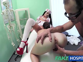 Spy Web Cam Filmed Wild And Randy Three-Way Fuck-Fest With Nasty Medic