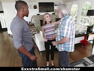 ExxtraSmall - Tiny Teen Alina West Sucks Huge Cock To Pay De