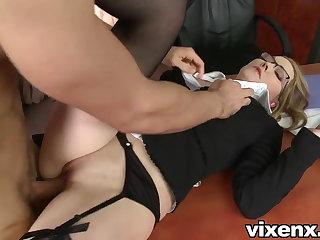 Bad secretary punished give spanking and anal sex