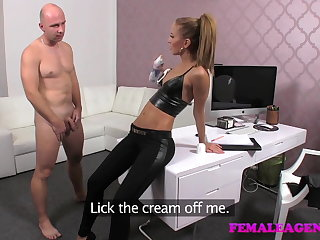 FemaleAgent Casting creampie for teasing spokesman