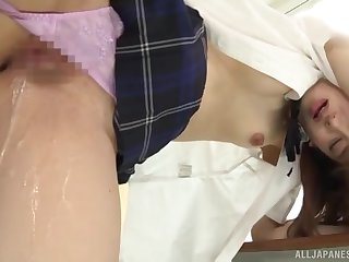 Japanese schoolgirl in everlasting scenes of sex at instructor