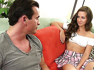 Aroused dude is more than ready to please charming fresh demoiselle Cassidy Klein