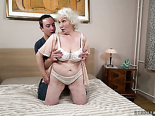 Fat mature slut Norma is actually good enough to ride dick upstairs top