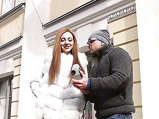 Tight Czech pussy of charming redhead deserves some good missionary