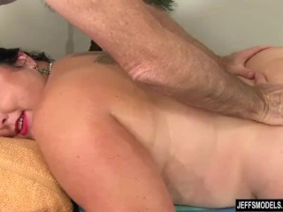 Enormous babe Calista Roxxx Gets a rubdown and a make the beast with duo backs make application Up Her beaver free lovemaking