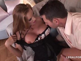 Good taste mature with a ultra-cute, chubby butt, Magnificent Bon got bum-fucked until she commenced pumping out like naughty