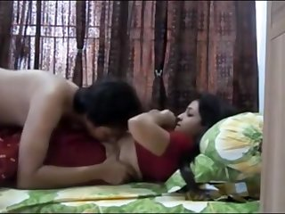 Indian duo having scalding orgy in their bedroom