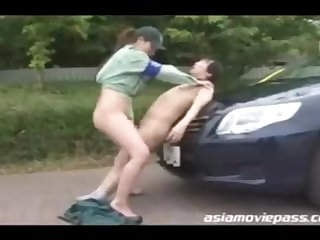 Chinese police woman enjoys to have casual romp with various dudes who recruit to pay the acquiescent