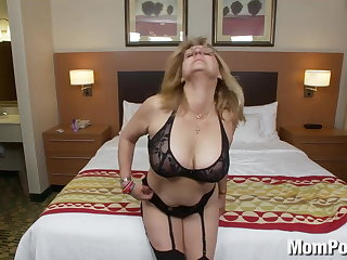 Aged lady amateur with big tits