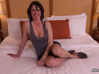 Arbitrary Natural Tits MILF Avid to Light of one's life