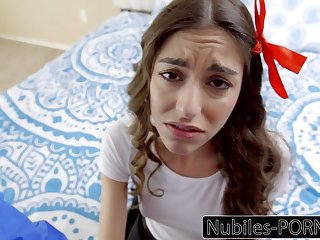 Nubiles Porn - Young Latina Must Please Will not hear of Step Old man